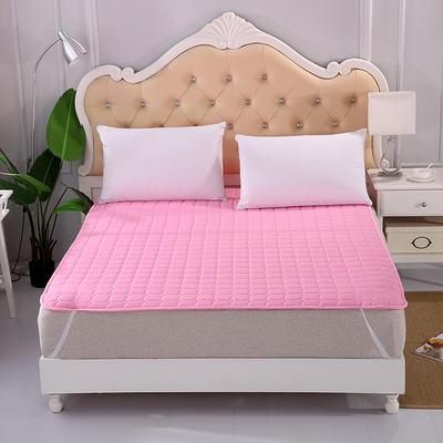 2018新款HXSD-1271 亲肤床褥床垫子床垫床褥子席梦思保护套 90*200cm 粉色