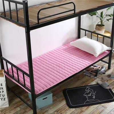 2018新款HXSD-1271 亲肤床褥床垫子(学生床拍) 90*200cm 粉色