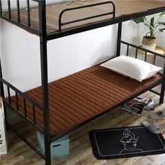 2018新款HXSD-1271 亲肤床褥床垫子(学生床拍) 90*200cm 咖啡色