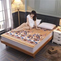 法兰绒床垫子法莱绒床垫床褥护垫火星时代网供380克重加厚 0.9*2.0米 富贵花