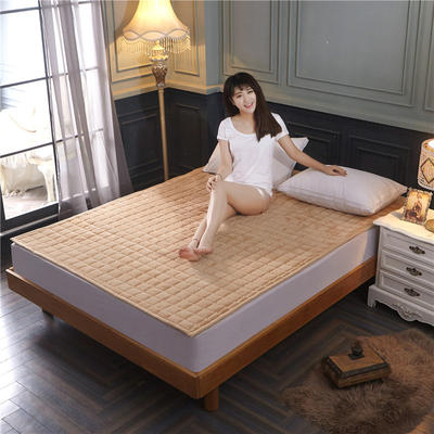 法兰绒床垫子法莱绒床垫床褥护垫火星时代网供380克重加厚 0.9*2.0米 驼色