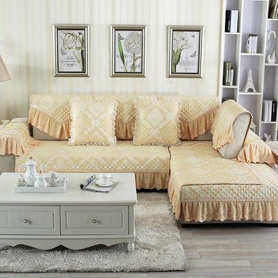 2018新款HXSD-2高精密提花高档沙发垫(终极版) 50*50cm(抱枕套) 锦上添花-米黄