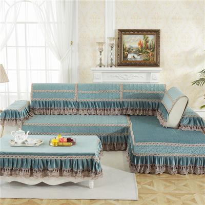 2018新款HXSD-4荷兰绒秋冬保暖沙发垫(终极版) 50*50cm(抱枕套) 荷兰绒-蓝色