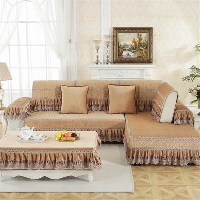 2018新款HXSD-4荷兰绒秋冬保暖沙发垫(终极版) 50*50cm(抱枕套) 荷兰绒-驼色