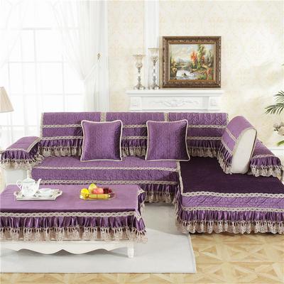 2018新款HXSD-5意大利绒秋冬保暖沙发垫 (终极版) 50*50cm(抱枕套) 意大利绒-紫色