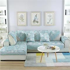 2018新款双面沙发垫九件套三件套 三件套 青枝绿叶@世外桃源