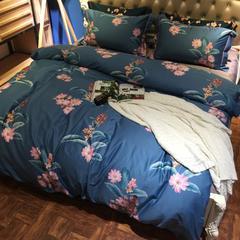 长绒棉印花四件套 1.8m(6英尺)床 阡陌芳华