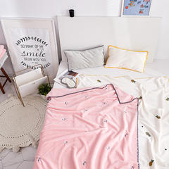 2018新款-绣花儿童绒毯、宝宝绒盖毯,多功能绒毯(棚拍) 120×160(婴儿,小童) 企鹅