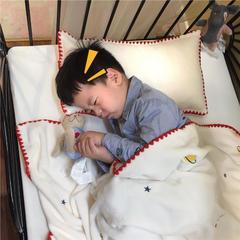 2018新款-绣花儿童绒毯、宝宝绒盖毯,多功能绒毯(实拍) 120×160(婴儿,小童) 火箭白色
