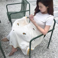 2018新款-绣花儿童绒毯、宝宝绒盖毯,多功能绒毯实拍外景图 120×160(婴儿,小童) 菠萝