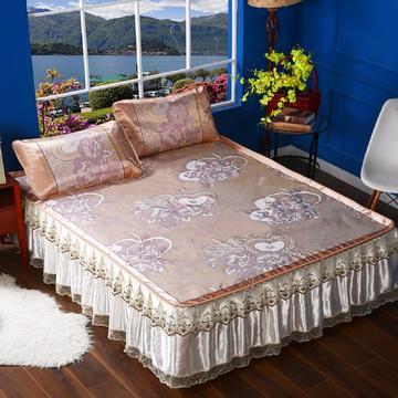 韩式蕾丝床裙款凉席
