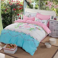 全棉纯棉时尚卡通儿童四件套活力青春套件      花季 1.8m(6英尺)床 花季2