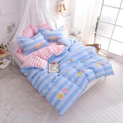 热卖爆款全棉13070活性印染四件套纯棉双人床上用品童年记忆 2.0m(6.6英尺)床 童年记忆