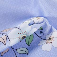 可水洗冰丝席床单款凉席凉感空调软席夏席子三件套数码秋日私语-雪青 1.5m(5英尺)床 秋日私语-雪青