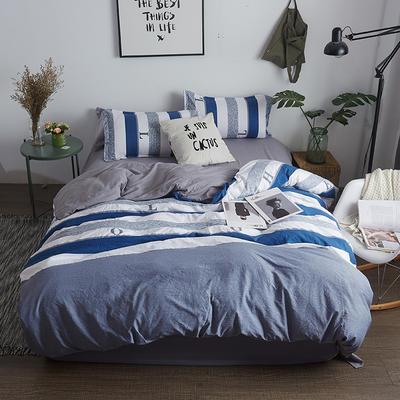 水洗棉AB版四件套 1.2m(4英尺)床 简约生活
