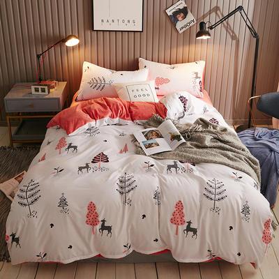 2018新款水晶绒四件套 1.5m(5英尺)床 丛林之家