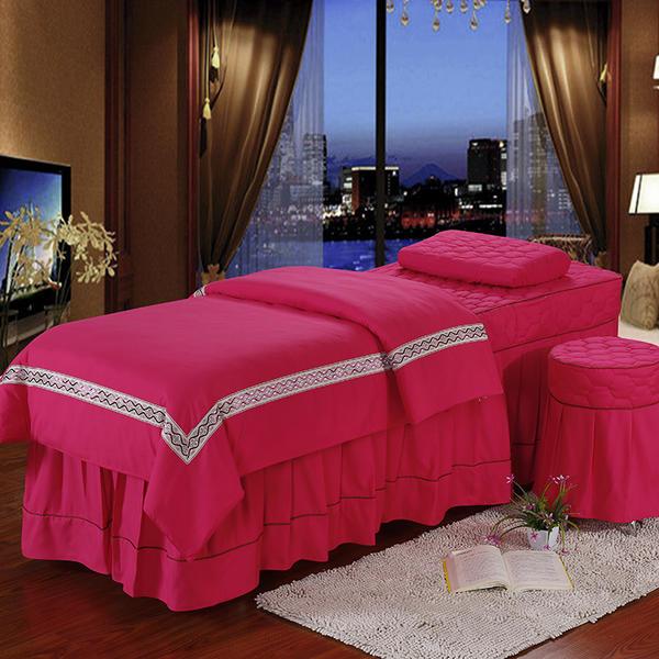 新款欧式花边印花美容床罩四件套送被芯