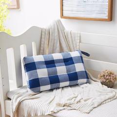 梵赫家纺    水洗棉全棉羽丝绒婴童儿童枕芯 30*50cm 深色格子