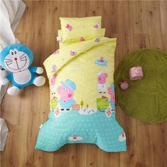梵赫家纺    大版夹棉系列婴童幼儿园套件 单床垫套60*120cm 海洋佩奇-黄