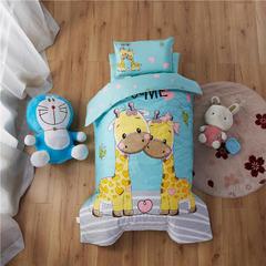 梵赫家纺    大版夹棉系列幼儿园套件 三件套不含芯 两只小鹿