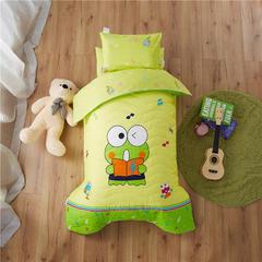 梵赫家纺    大版夹棉系列婴童用品幼儿园套件 丝绵款六件套 音乐青蛙