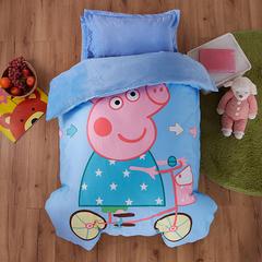 梵赫家纺    水晶绒系列婴童用品幼儿园套件 单被套120*150cm 单车小猪