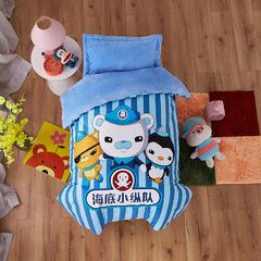 梵赫家纺    水晶绒系列幼儿园套件 单床垫套60*135cm 海底小纵队