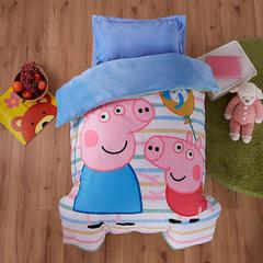 梵赫家纺    水晶绒系列婴童幼儿园套件 单枕套30*50cm 小猪彩条