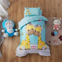 梵赫家纺    大版系列幼儿园套件 棉花款布包款六件套 两只小鹿