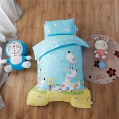 梵赫家纺    大版系列幼儿园套件 单被套120*150cm 漂流狗仔-蓝