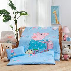 梵赫家纺    大版夹棉系列婴童用品幼儿园套件 单床垫套60*120cm 单车小猪