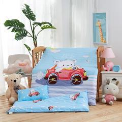 梵赫家纺    大版夹棉系列婴童幼儿园套件 单被套(两用夏被)115*150cm 汽车熊