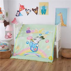 梵赫家纺    大版系列婴童幼儿园套件 丝绵子母款七件套 巴布豆-绿