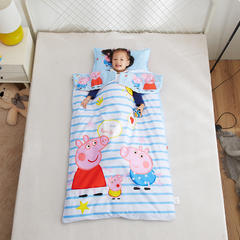 2018新品全棉133*72多功能儿童睡袋 我爱小猪小号睡袋棉花1.6斤