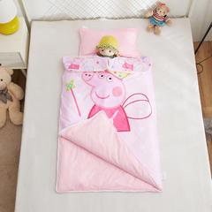2018新品A版全棉133*72B版水晶绒多功能儿童睡袋 佩奇公主大号睡袋棉花1.8斤