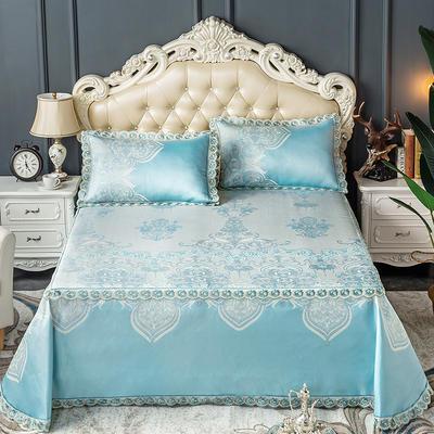 床笠式床单冰丝凉席(3件套) 150*200/230*240 安娜