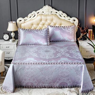 床笠式床单冰丝凉席(3件套) 150*200/230*240 贝加尔-紫
