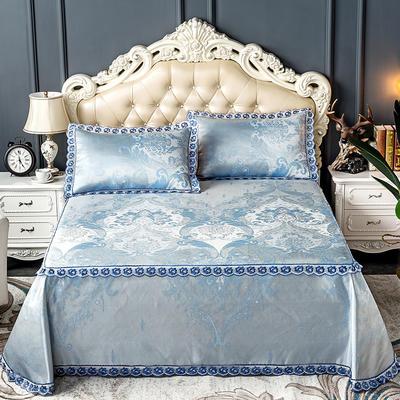 床笠式床单冰丝凉席(3件套) 150*200/230*240 蓝调伯爵