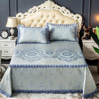 床笠式床单冰丝凉席(3件套) 150*200/230*240 图雅娜