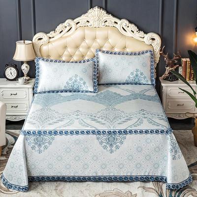 床笠式床单冰丝凉席(3件套) 150*200/230*240 维罗尼