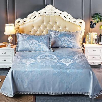 轻奢提花床裙(提花冰丝席3件套) 250*250 蓝调伯爵