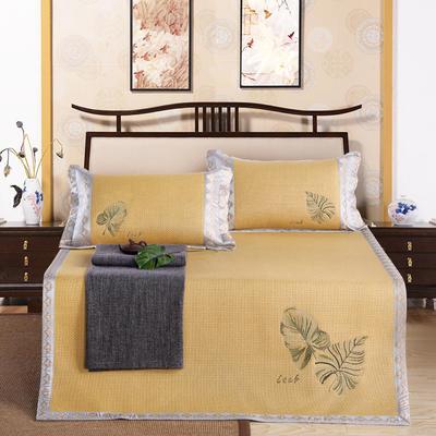 印尼绣花凉席(三件套) 180*200 森然  金色