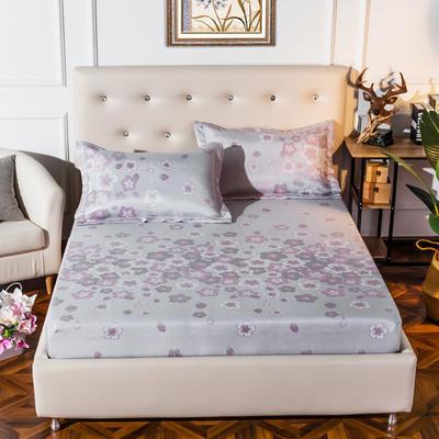 2019新品床包款提花冰丝席三件套 150x200+28cm(笠高28cm) 芳华