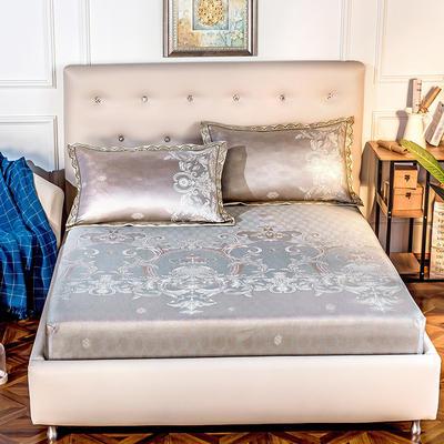 2019新品床包款提花冰丝席三件套 150x200+28cm(笠高28cm) 罗卡娜