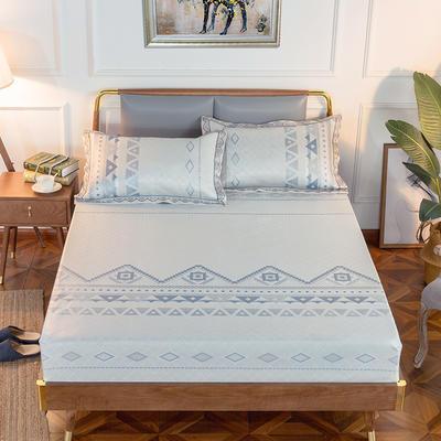 2019新品床包款提花冰丝席三件套 150x200+28cm(笠高28cm) 情定纳西