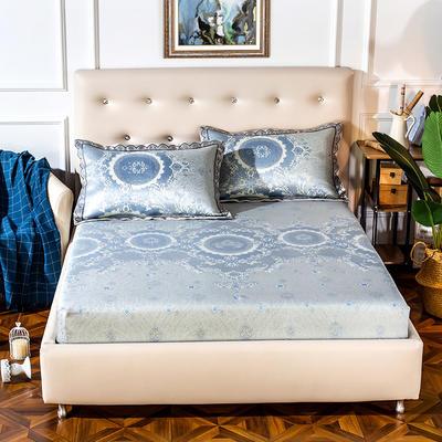 2019新品床包款提花冰丝席三件套 150x200+28cm(笠高28cm) 图雅娜