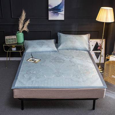 2019新品轻奢提花冰丝床席三件套 150x200cm 菲尔