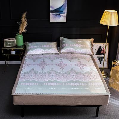 2019新品轻奢提花冰丝床席三件套 150x200cm 洛菲