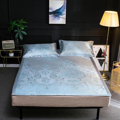 2019新品轻奢提花冰丝床席三件套 150x200cm 舒尔曼