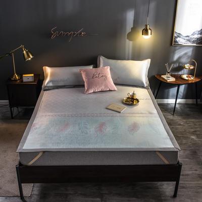 2020新款轻奢提花床席 1.5m(5英尺)床 飘雨无暇-粉绿